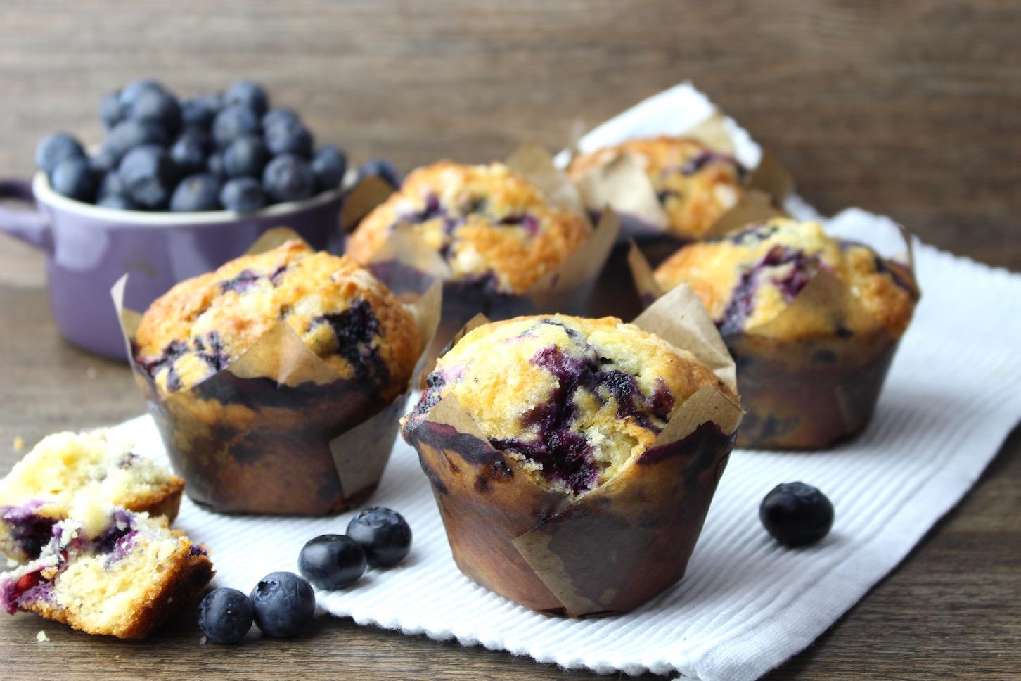 Muffins de arándanos ¡Mira cómo se preparan!